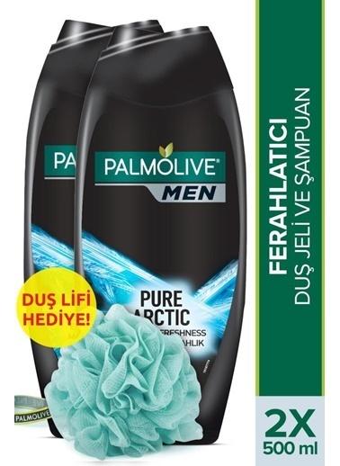 Palmolive Palmolive Men Pure Artric 2'Si 1 Arada Duş Jeli Ve şampuan 200 ml ve Duş Lifi Hediye Renksiz